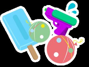 アイスと、水風船や水鉄砲など「夏」を感じるおもちゃプレゼント!